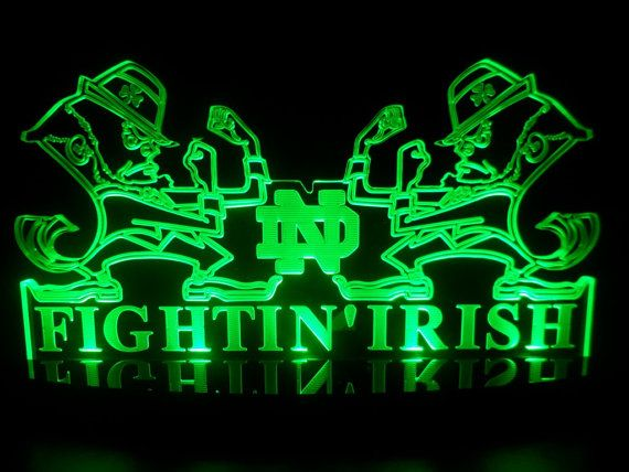 Hey, I found this really awesome Etsy listing at https://www.etsy.com/listing/158924623/notre-dame-fighting-irish-led-desk-lamp