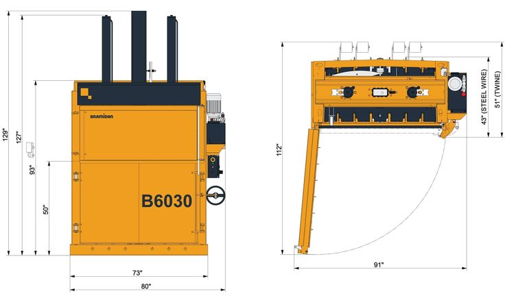 60 inch mill-sized vertical baler for cardboard and shrink wrap