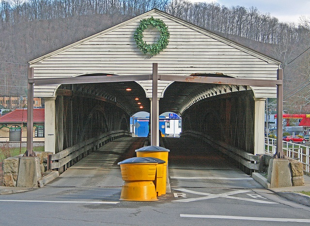 Covered Bridge Philippi West Virginia..  Been here many times...First land battle of civil war
