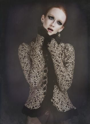 """""""God Save The Queen"""" Gold Lace Top F