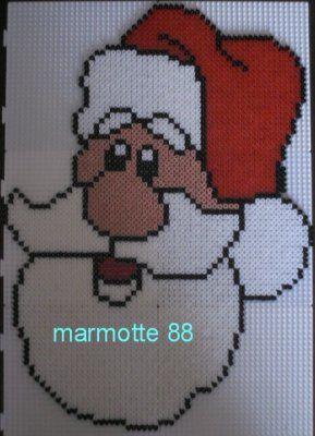 Santa hama perler by marmotte88130