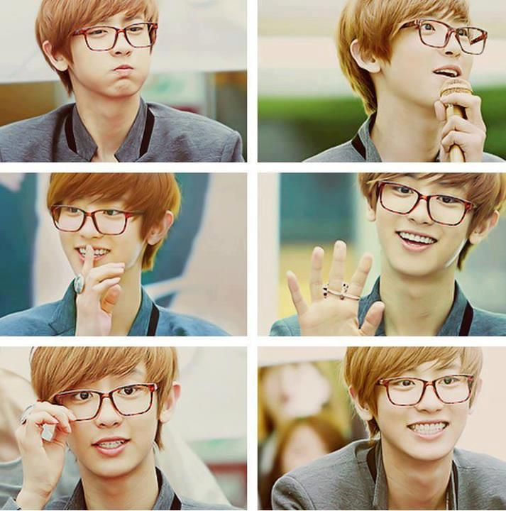 #Chanyeol in glasses = me x_x ♡