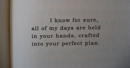 crafted into His perfect plan...
