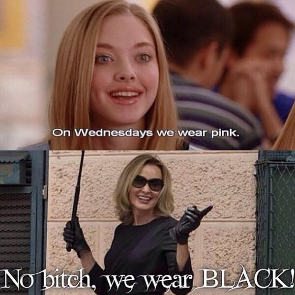 Love American Horror Story Coven. Hahahaha. I always wear black. LOL.