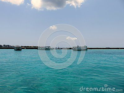 Picture from Maldives islands, Indian Ocean. Velana International Airport.