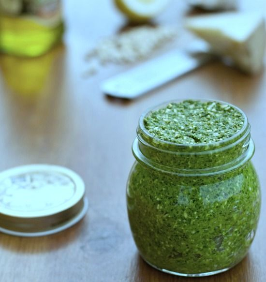 Lemon Balm and Cashew Pesto - have to try this and experiment with all kinds of different pestos since they offer unlimited herbs at our organic CSA,