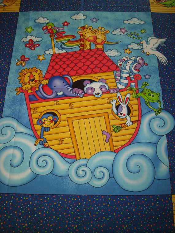 Noahs Ark Fabric Panels Google Search For Baby