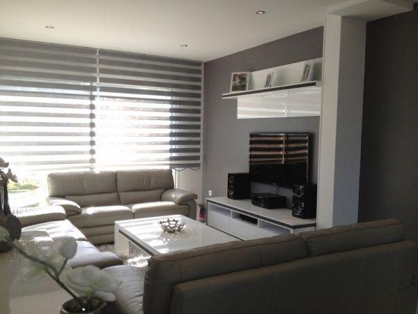Salon Blanc Gris Moderne