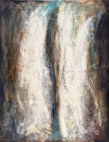"""""""Force motrice"""", #mixedmedia on #canvas at #Gallery Saint-Dizier in #Montreal"""
