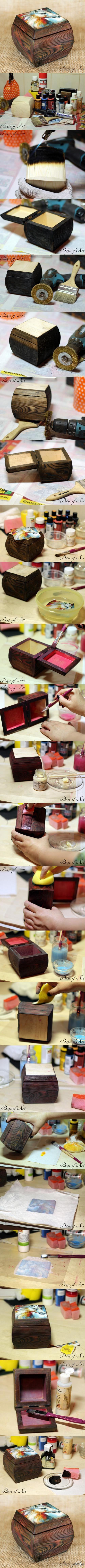 "Декупаж - Сайт любителей декупажа - DCPG.RU | Шкатулка ""Мечта"". Мастер-класс от ""Base of Art"". Click on photo to see more! Нажмите на фото чтобы увидеть больше! decoupage art craft handmade home decor DIY do it yourself tutorial Materials and techniques: decoupage card acrylic paint wax varnish napkins etc."