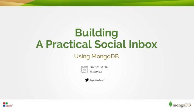 Building Social Inbox using MongoDB
