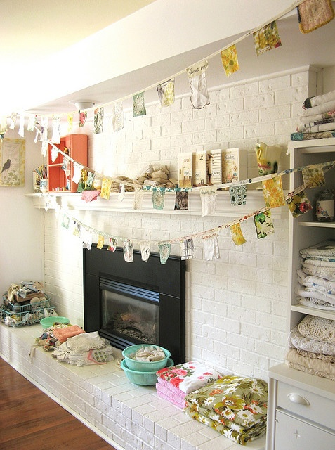 14 best images about white brick fireplace on pinterest - Brick wall fireplace makeover ...