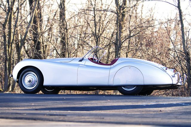 "1959 Jaguar XK-120 ""Alloy"" Roadster... curvacious little sweet ride. Oh my!"