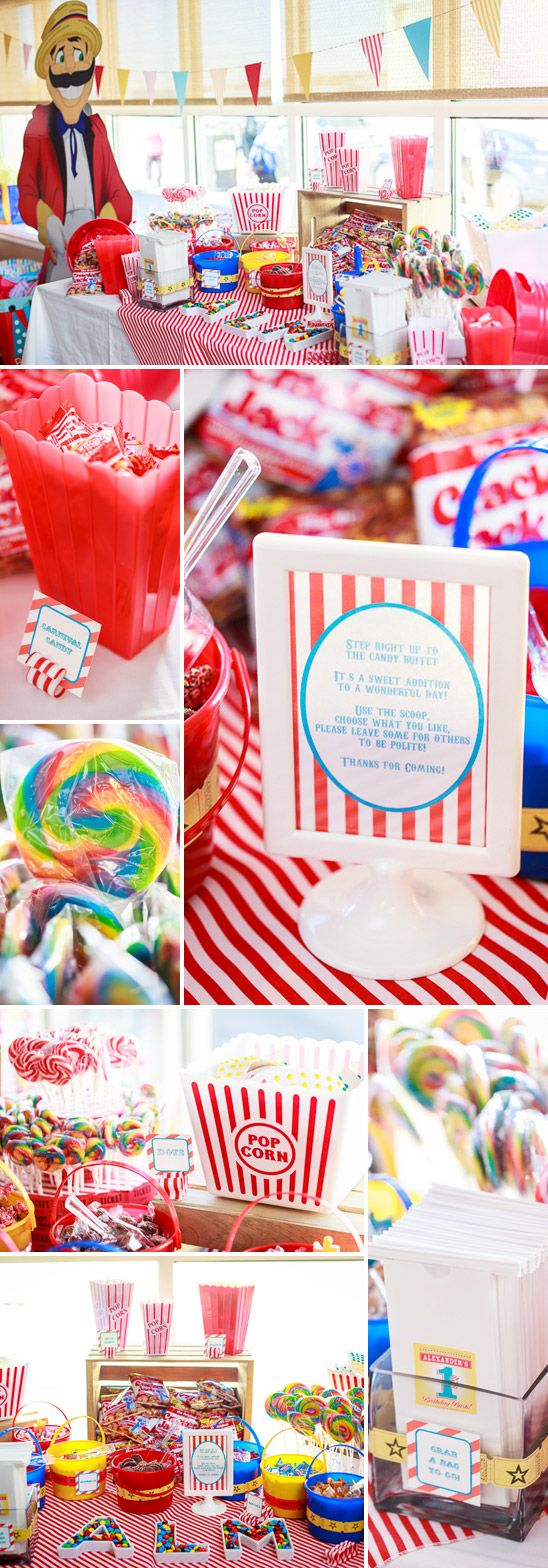 Carnival Themed Birthday Party - what a cute idea