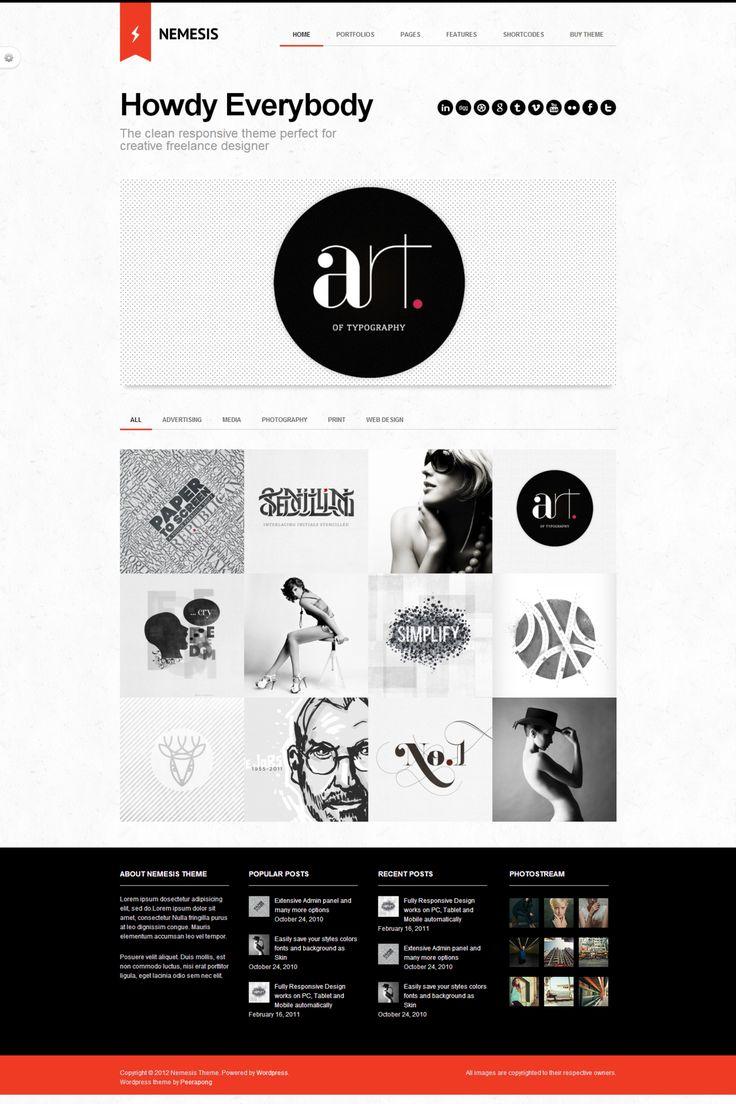 Nemesis Clean Design For Creative Designer | WordPress Theme
