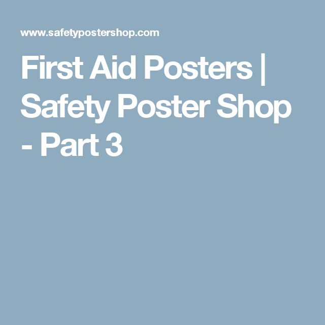 First Aid Posters | Safety Poster Shop - Part 3