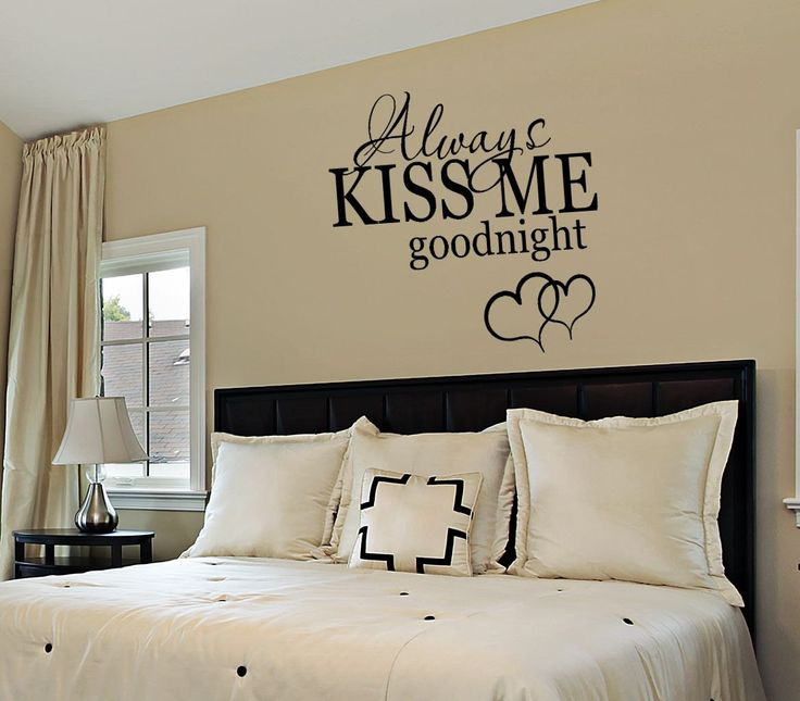 Wall Art For Master Bedroom Pinterest : Best bedroom wall quotes on signs
