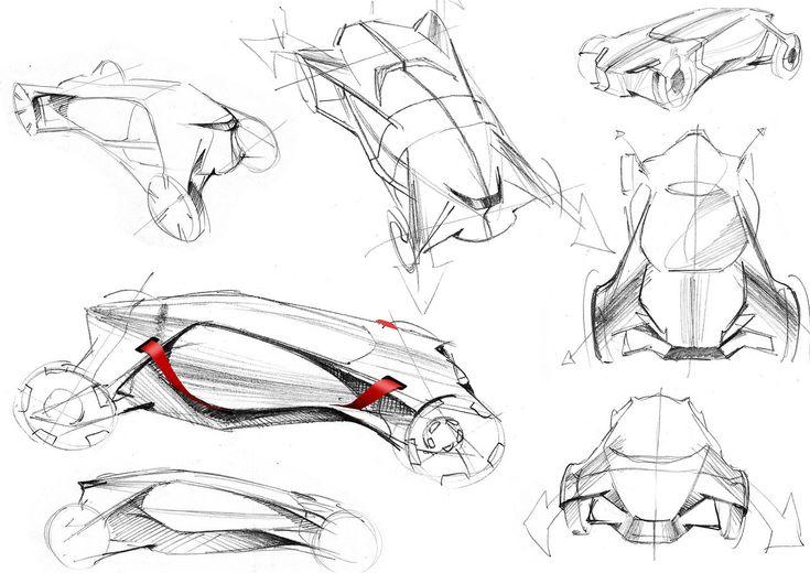 Car Sketches by Hideaki Iida