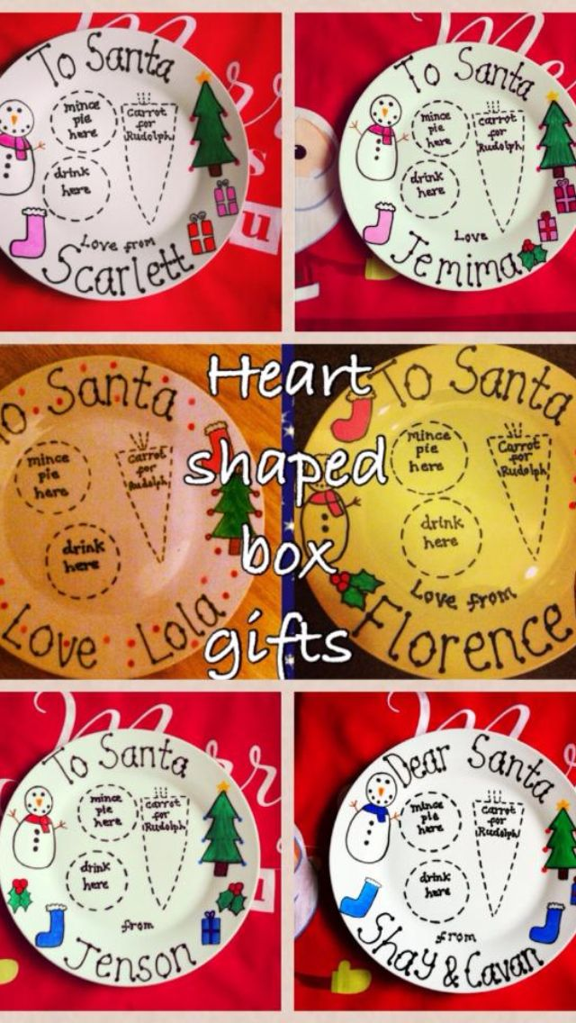 17 Best Santa Plate Images On Pinterest Christmas Plates