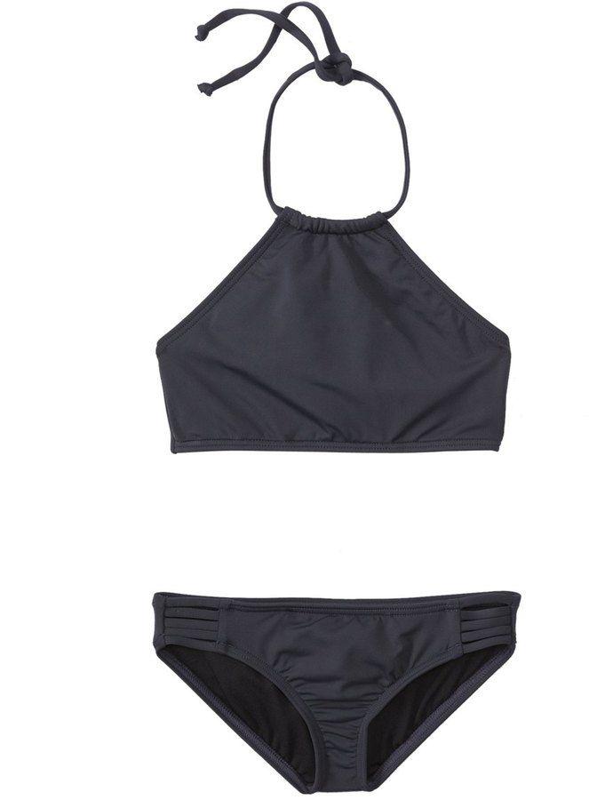 Billabong Girls' Sol Searcher High Neck Bikini Set (414) - 8147364