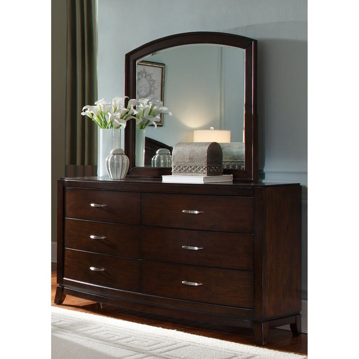 liberty furniture avalon 6 drawer dresser dark truffle the sleek look of a beautifully appointed modern bedroom is certain to keep its stylish charm - Mirrored Dresser Cheap