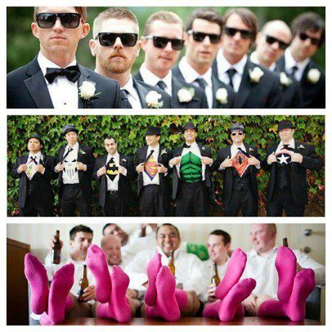 wedding ideas....love the socks =) for the goofy groom and groomsmen (like my own) =P
