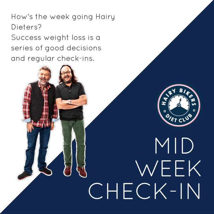 It's time for a mid-week check-in. For many of us it was a bank holiday on Monday, so how is this week going Hairy Dieters?