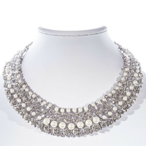 £147 Jeminee Jewellery London Pearl Showstopper Statement Necklace | #Fashion #Accessories #Style #OOTD #GiftforHer #Jewellery