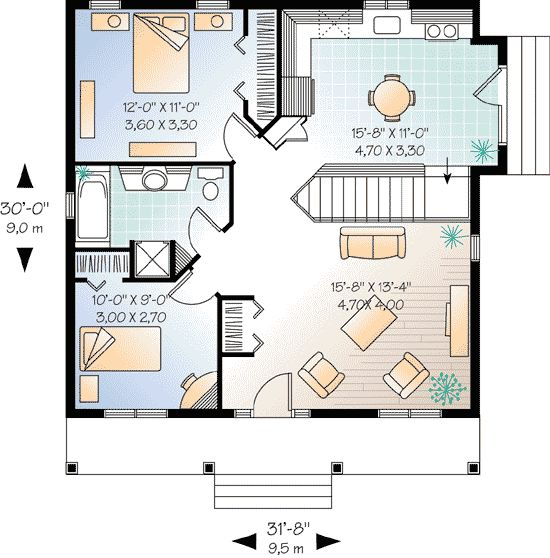 2 Bedroom Cottage Designs 101 Best Small House Plans Images On Pinterest  Little House