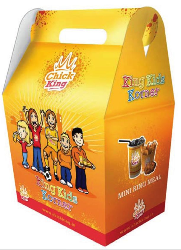 ChicKing Novelty meal Carton Design solution.