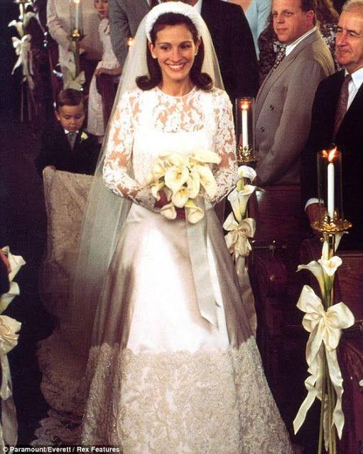 Noiva em fuga, filme Runauay Bride,vestido de noiva Julia Roberts costume