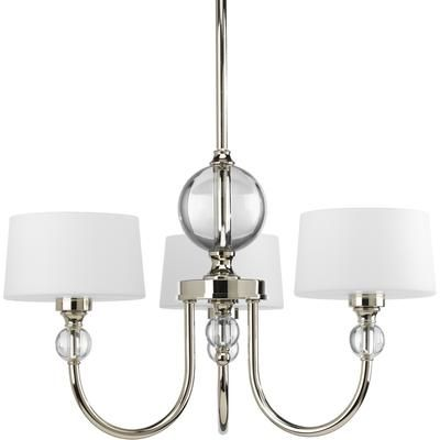 Progress Lighting - Fortune Collection Polished Nickel 3-light Chandelier - 785247168767 - Home Depot Canada