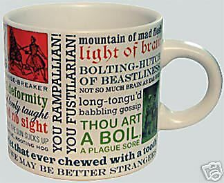 William Shakespeare INSULTS Coffee MUG Tea cup insult   | eBay