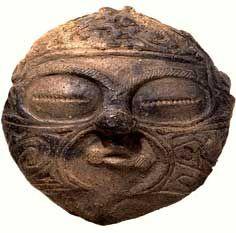 Clay Mask, Kamegaoka site in Aomori; Jomon Period, 1000 to 400 BCE