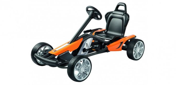Porsche's new kid-specific Go-Kart weighs in at  55 pounds (25 kg) and can support future ...