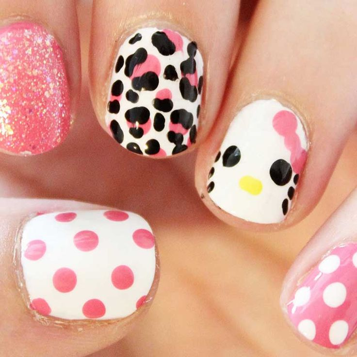 26 best hello kitty nail designs images on pinterest hello kitty awesome hello kitty mix and match nail art prinsesfo Choice Image