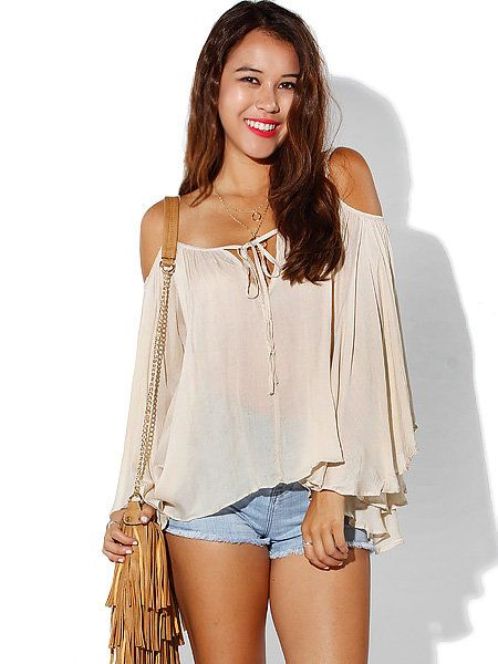 qwertyqeqe's save of Papaya Clothing Online :: OPEN SHOULDER CAMI TOP on Wanelo