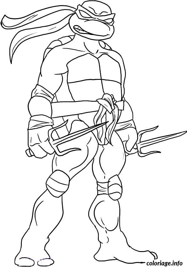 Coloriage tortue ninja 85 Dessin à Imprimer