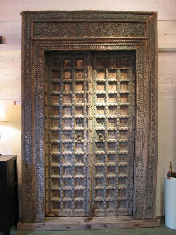 Traditional Carved Door In India Rajasthan India