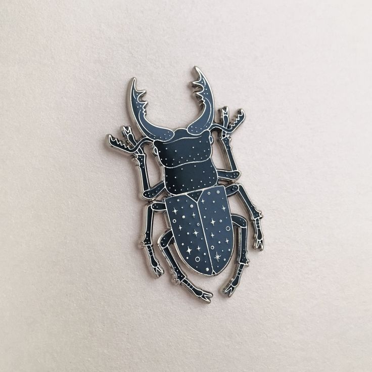 Caitlin Stout — Stag Beetle Pin