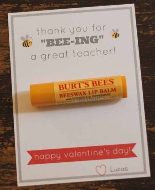 "Thank you for ""BEE-ING"" a great teacher!   Valentine's Day card for Teachers"