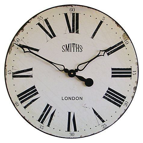 Buy Lascelles Smith Wall Clock Dia50cm Online At Johnlewis
