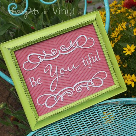 Thoughts in Vinyl- craft kits and vinyl for your walls!  Cute and inexpensive