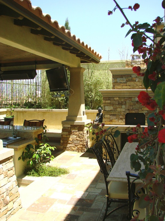2013 Outdoor Stone Fireplaces Mediterranean Patio Backyard Patio Ideas Design Pictures Remodel Decor And Ideas Page