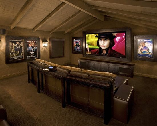 Small Scale Home Theater Room Attic Design Pictures Remodel Decor And Ideas Page 13