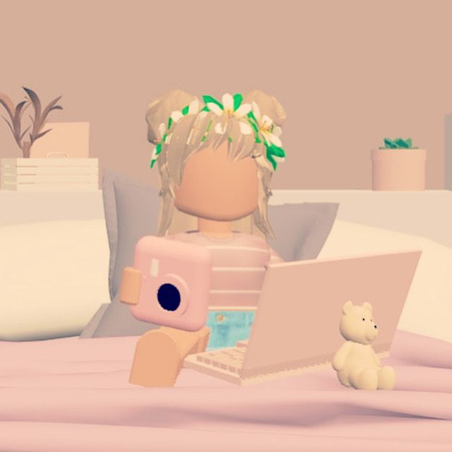 Cool Asthetic Roblox Character Girl Aesthetic Roblox Gfx Girl W Polaroid Laptop In 2020 Roblox Pictures Cute Tumblr Wallpaper Roblox Animation