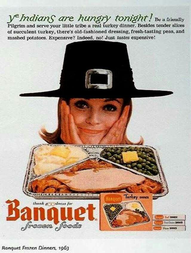 Banquet frozen foods, 1963 thanksgiving ad.