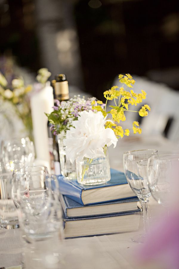 love the books as table decor