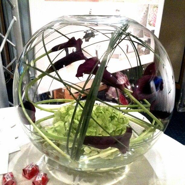 Moderne Blumen Dekoration mit Callas