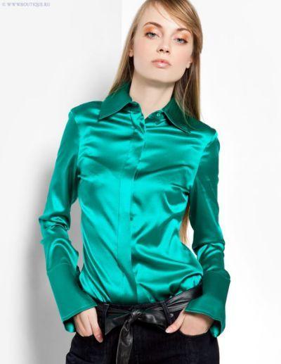 de082530df9c1d Green Satin Blouse
